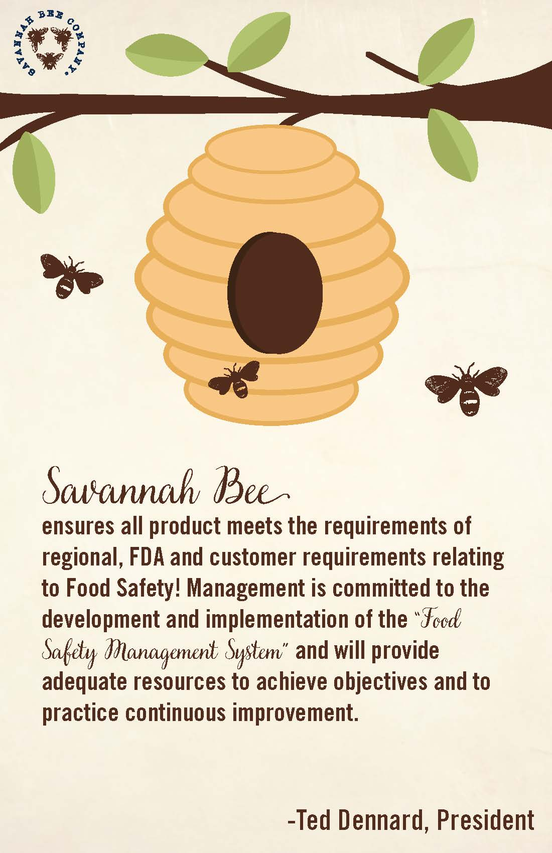 Food Safety - Our Commitment to You! - Savannah Bee Company