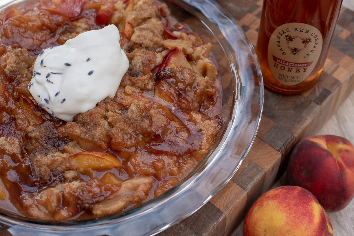 Savannah Bee Wildflower Honey Peach Cobbler