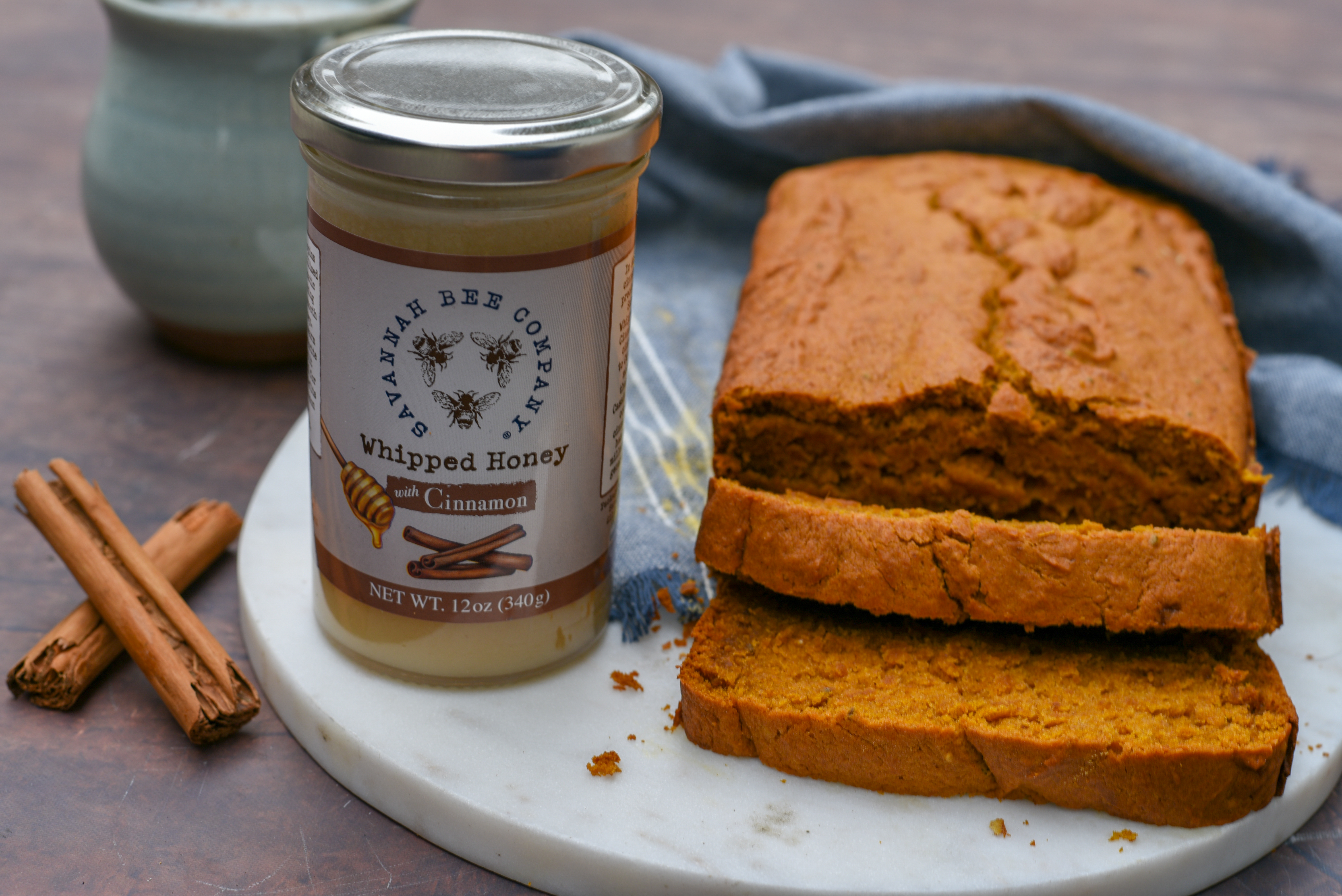 Cinnamon Whipped Honey Pumpkin Spice Bread Savannah Bee